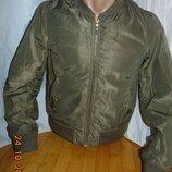Стильная брендовая фирменная курточка бомбер пилот Pull & Bear .xs-s