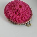 Вязаний фермуар кошелек крючком.