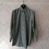 Размер 14 Стильная фирменная хлопковая удлинённая рубашка
