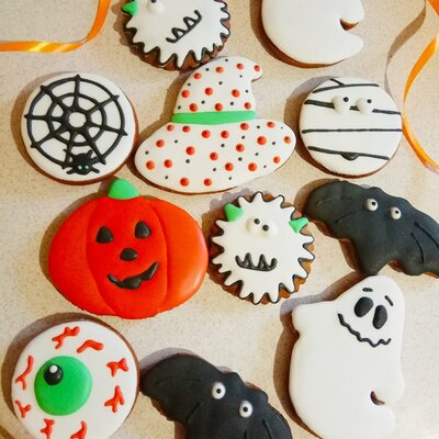 Пряники к Хэллоуин