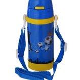 Термос детский с трубочкой A-PLUS 320 мл 1776 Синий