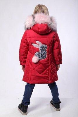 Хит зима 2020, зимнее пальто Зайка , 104-128 см