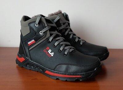 Ботинки мужские зимние черные спортивные - черевики чоловічі зимові