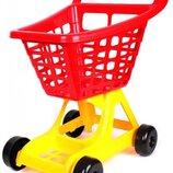 Тележка для супермаркета Технок голубая, красная