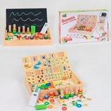 Деревянная развивающая доска, развивающая и обучающая игрушка, Деревянная математическая доска