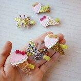 Заколка заколочки заколки для волос звезда зайка мороженое бабочки бабочка