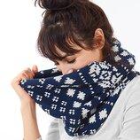 Теплющий шарф снуд на флисе Тсм Чибо.