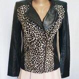 Куртка женская демисезонная кожаная косуха Autograph by M&S Размер 42-44 S, EU36