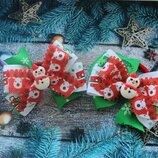 резинки бантики новорічні