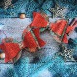 заколки бантики новорічні,65 грн пара