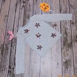 Гламурный реглан Primark для девочки 7-8 лет, 122-128 см