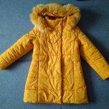 Зимняя курточка для девочки 134 и 140