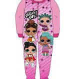 Пижама флисовая сдельная LOL куклы лол, теплый слип для девочки 2-8 лет