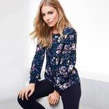 Шикарная кофточка, блузка с цветочным принтом Тсм Чибо. 38, 40, 42, 44 евро