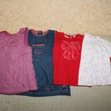 Комплект теплых платьев девочке 6 месяцев