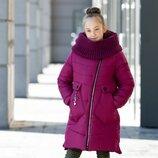 Куртка зимняя Шарф на рост 134-152