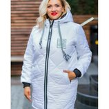 Куртка зима удлинённая утеплитель 300, Размеры 44-46,48-50,52-54,56-58, 60-62.