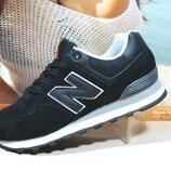 Женские кроссовки New Balance 574 черный 36р-41р
