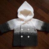 Вязаный кардиган пальтишко на ребенка 3 - 4,5 годика