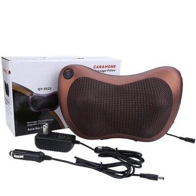 Массажная подушка для спины и шеи Massage pillow GHM 8028 роликовый массажер