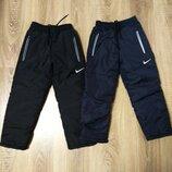 Теплые зимние штаны на флисе для мальчиков 5-8 лет