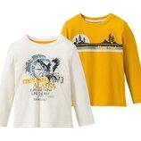 Реглани 2 шт. футболки з довгим рукавом LUPILU® для хлопчиків, р. 98/104, 110/116