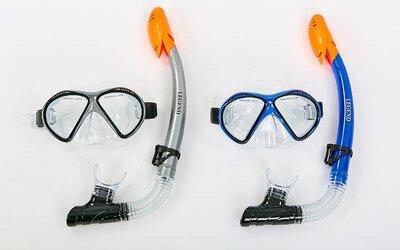 Набор для плавания маска с трубкой Legend 293P-SN110-PVC термостекло, PVC, пластик