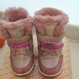 Зимние нежно-розовые сапожки на девочку в отличном состоянии Clibee, Зимние сапоги, ботинки Клиби
