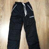 Зимние теплые штаны на флисе для мальчиков 122-146 размер