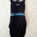 12-14 speedo черный спортивный цельный купальник для бассейна фитнеса