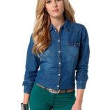 Стильная классическая женская джинсовая рубашка Esmara Германия