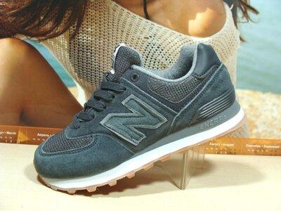 Женские кроссовки New Balance 574 т.серый 36р-41р