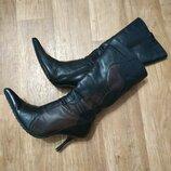 Женские, кожаные, зимние сапоги 37 размер