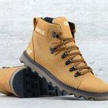 Мужские кожаные зимние ботинки Б 707 песок