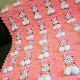 Детский плед-одеяло вязаный