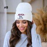 Женская вязаная шапка 652 в расцветках