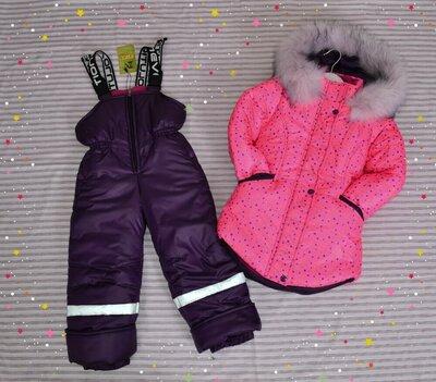 Зимняя курточка полукомбинезон для девочки