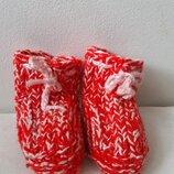 Вязанные теплые тапочки носочки на ножку 11- 12 см малышке