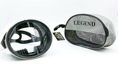 Маска для плавания Legend Retro M102-SIL термостекло, силикон, пластик