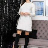 Женское теплое ангоровое платье с 42 по 52 размер