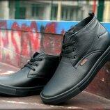 Зимние фабричные кожаные мужские ботинки ,обувь которая справится с морозом и слякотью