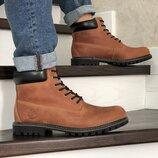 Зимние мужские ботинки Timberland brown , натур.кожа