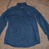 Джинсовая рубашка мальчику rebel на 12 лет рост 152 Англия
