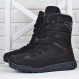 Adidas Terrex Дутики женские спортивные ботинки черные на шнуровке