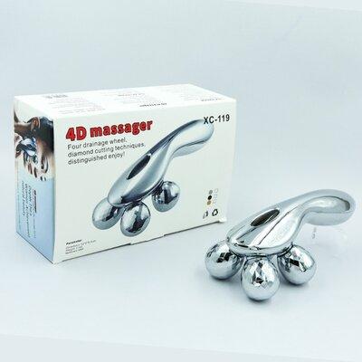 Массажер ручной роликовый 4D Massager XC-119 пластик, 4 массажных шарика