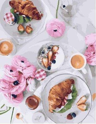 Картина по номерам. Brushme Завтрак по-французски GX23709