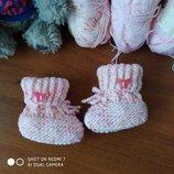 Пинетка вязание тепло світло-розовий 10см