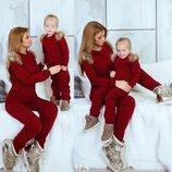 Family look тёплый костюм взрослый и детский ам 452