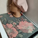 Комплект чешский фетровый берет tonak и зимний теплый шарф палантин с цветами