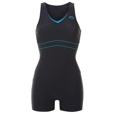 10-12 практичный спортивный цельный купальник шортами костюм